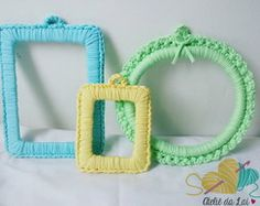 Moldura decorativa de crochê (G)