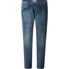 WOMEN PURE BLUE JAPAN RELAXED SKINNY FIT TAPERED JEANS | UNIQLO