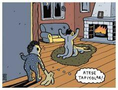 #ateş #dans #mizah #karikatür