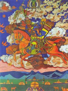 Great rider. Rigden Jyepo - Messenger of Shambhala, 1927 by Nicholas Roerich…
