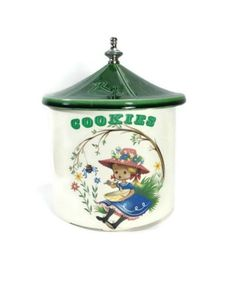 Vintage McCoy Miss Muffet Cookie Jar 1960's
