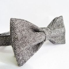 Beautiful grey bow tie from Hubbard's Cupboard