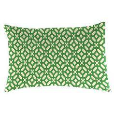 Outdoor Decorative Pillow Set Jordan Manufacturing Emerald Green White