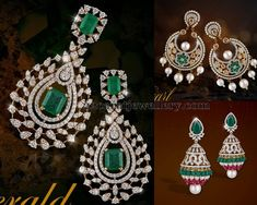 Jewellery Designs: Exclusive Diamond Earrings by Shobha Asar