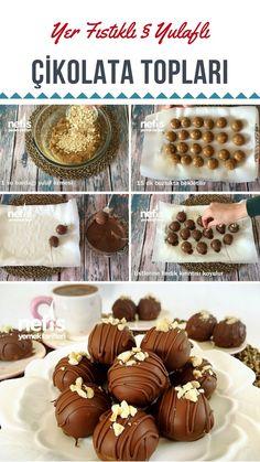 Videolu anlatım Yer Fıstıklı Yulaflı Çikolata Topları (videolu) Tarifi nasıl yapılır? 2.411 kişinin defterindeki bu tarifin videolu anlatımı ve deneyenlerin fotoğrafları burada. Yazar: esin akan