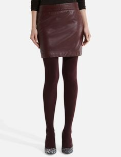 Faux Leather Mini Skirt from THELIMITED.com