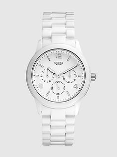 FEMININE CONTEMPORARY WATCH - WHITE - $115  I Love This Watch! (I'd love it more if t was ceramic, but oh well)