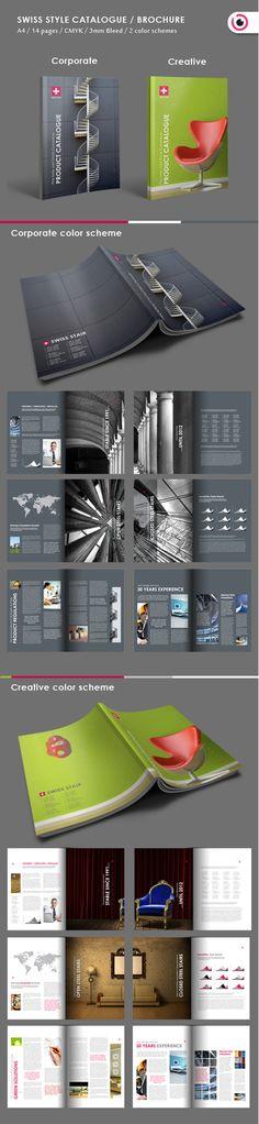 Swiss style brochure by Tony Huynh, via Behance