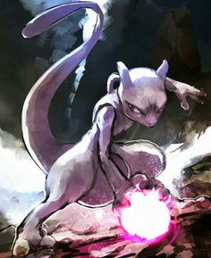After a scientific experiment leads to the creation of Mewtwo, he sets out to destroy the world. Satoshi and his friends then decide to thwart Mewtwo's evil plans. Pokemon Mewtwo, Pokemon Fan Art, Mew And Mewtwo, Pokemon Sketch, Ghost Pokemon, Pikachu, Pokemon Images, Pokemon Pictures, Powerful Pokemon