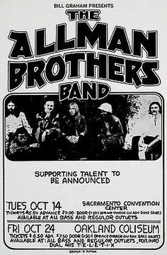 The Allman Brothers Band - 1975 - Concert Poster