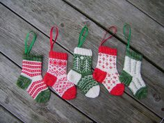 Knitted sock ornament pattern for sale
