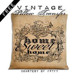 Easy diy Home Decor Pillow Transfer