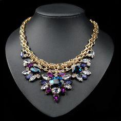 Luxury crystal chocker necklace.