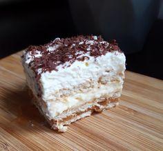 Ciasto 3 bit - zdecydowanie najlepsze ciasto bez pieczenia! Italian Pastries, Food Cakes, Tiramisu, Cake Recipes, Goodies, Food And Drink, Sweets, Baking, Ethnic Recipes
