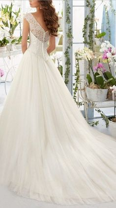 Beauty Bridal 2016 Simple Long A-Line Cap Sleeve Train Lace Wedding Dresses. http://www.cutedresses.co/product/simple-long-a-line-cap-sleeve-train-lace-wedding-dresses/
