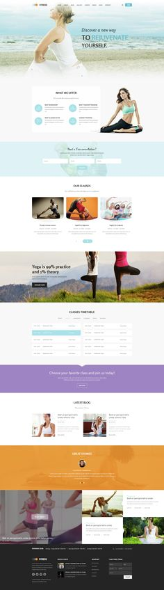Description      Fitness – A clean and professional PSD Template is specially designed for yoga, gym, fitness, dancing class, yoga bars and sport sections websites. PSD files is perfectly organized, ...