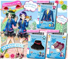 Doki Doki Anime, Smile Pretty Cure, Glitter Force, Magical Girl, All Star, The Cure, Best Friends, Character Design, Trading Cards