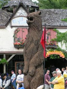 """""""The Big Bear"""" woodcarved statue from the Minnesota Renaissance Festival"""