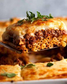 Pot Pasta, Pasta Dishes, Pasta Sauces, Greek Recipes, Italian Recipes, Greek Cheese, Greek Pasta, Recipetin Eats, Recipe Tin