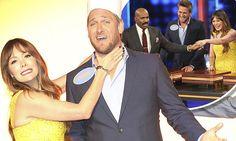 Curtis Stone & Lindsay Price blush and giggle on Celebrity Family Feud #LefthandersIntl - http://Left-handersInternational.com