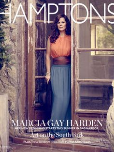 Hamptons Magazine's Marcia Gay Harden cover preview.  She looks fab.  Wish I knew who made her face look 20 years younger!  Have you seen her on News Room?  Looks fab!