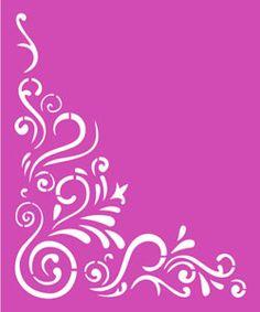 Servilletas y algo más  -  Stencil Wood Craft Patterns, Stencil Patterns, Stencil Art, Stencil Designs, Bullet Journal Examples, Deco Cuir, Cut Out Art, Laser Cut Panels, Lattice Design