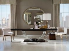 Get dining table design, dining table designs 6 seater, dining table furniture design, dining table and chairs and small round dining table from Design Mart SV. Luxury Furniture Brands, Unique Furniture, Furniture Design, Wooden Furniture, Upscale Furniture, Luxury Mirror, Luxury Dining Room, Dining Table Design, Mesas