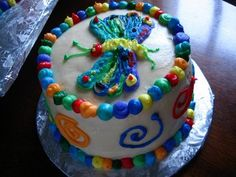 @Tonya Sweatman, this would be a cute smash cake for a very hungry caterpillar party!