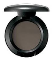 MAC Copperplate. A cool, dove gray that creates depth around the eyes without being harsh. Satiny, even finish with no shimmer.