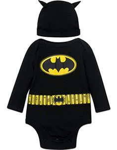 Batman+costumes Products : Batman Baby Boys' Costume Long Sleeve Bodysuit and Cap Set Black