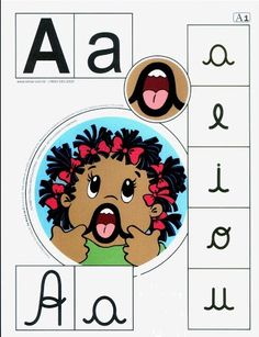 Vocal A uppercase, lowercase. Spanish Lessons, Learning Spanish, Dual Language Classroom, Apraxia, Uppercase And Lowercase, Speech And Language, Speech Therapy, Literacy, Kindergarten