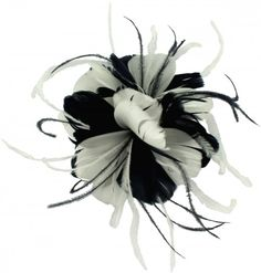 8c5d3ffc Failsworth Millinery Feather Fascinator in Black and White
