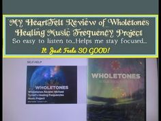 My Wholetones Review | Healing Music by Michael Tyrrell - I kind of explain more about how it makes me FEEL when I'm listening. It's something I cannot explain. I also have a link to the written review that I'm sure I've shared elsewhere. This is music I never get tired of listening to!