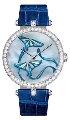 Van Cleef & Arpels ~ Lady Arpels Cerf-Volant Indigo watch, 2013