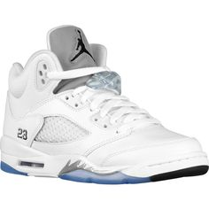 Jordan Retro 5 Boys' Grade School ($140) ❤ liked on Polyvore featuring shoes, jordans and sneakers