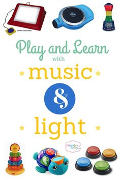 Bright lights and fun songs are proven motivators for children of all ages and abilities to encourage learning, motor skills, and understanding fundamentals of the way things work. Here are our favorite toys with sounds and lights! #ULTG #LightPlayChallenge