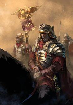 Romanos durante el Alto Imperio, por Leo Karpacz. Más en www.elgrancapitan.org/foro