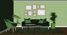 grønt interiør ton-i-ton fargetips Interiør og innredning Gallery Wall, Home Decor, Decoration Home, Room Decor, Home Interior Design, Home Decoration, Interior Design