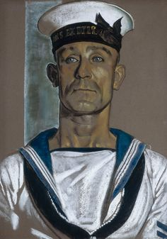 A. Stoker Martin of HMS 'Exeter' - Eric H. Kennington - Royal Museums Greenwich Prints