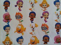48 Bubble Guppies Birthday Party Stickers 1 1/4 round stickers rewards Favor. $2.50, via Etsy.