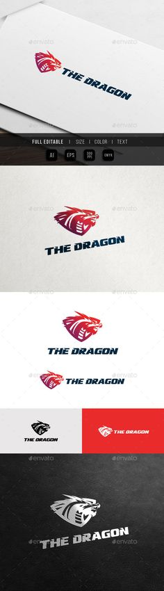 Dragon Shield - Game Team Logo Template #design #logotype Download: http://graphicriver.net/item/dragon-shield-game-team-logo/12522575?ref=ksioks