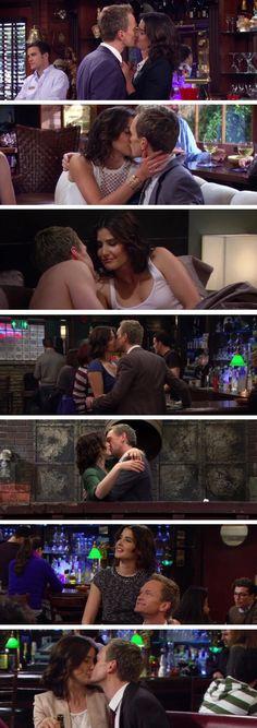 Swarkles kisses - Barney Stinson - Robin Scherbatsky - HIMYM - How I Met Your Mother