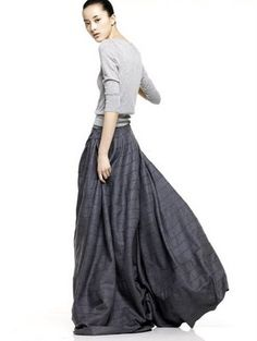 love that long skirt. gorgeous for the the fall.