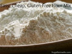 Inexpensive Gluten-Free Flour Mix. This homemade all-purpose mix uses the least expensive ingredients you can find, and works in just about any recipe!