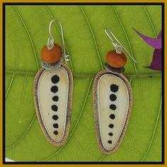 Tabra Tribal Pattern on Bone Earrings by TabraInternational, $77.00