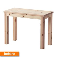 Before & After: A Plain Pine IKEA Table Turns into a Bold Bar Cart!