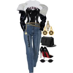 Untitled #315 by thedemidorsey on Polyvore featuring polyvore, fashion, style, Christian Louboutin, Yves Saint Laurent, Chanel, Rolex and clothing
