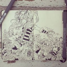 #31 Queen bee #art #drawing #illustration #design #moleskine #graphicdesign #anime #manga #girl #beautiful #cute #kawaii #miku #vocaloid #ink #traditional #bee #candy #gum #chocolate #cupcake #artist #brazil #_picolo by _picolo