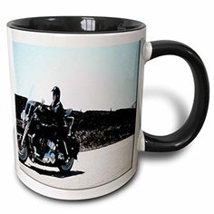 Jos Fauxtographee Realistic - A Man Traveling on a Motorcycle Done in a Fresco Finish on The Highway Dressed in Black Leather - 11oz Two-Tone Black Mug (mug_52112_4) 3dRose http://www.amazon.com/dp/B013C2BAM4/ref=cm_sw_r_pi_dp_mYMvwb0MNXSXH