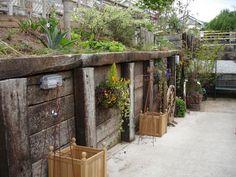 45 Best Sleeper retaining wall images | Gardens, Sleeper
